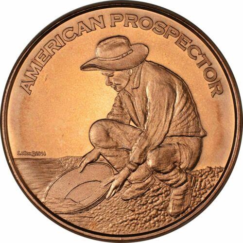 Prospector 1 oz Copper Round