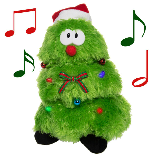 plush dancing singing christmas tree light up toy animated christmas decorations - Animal Christmas Decorations