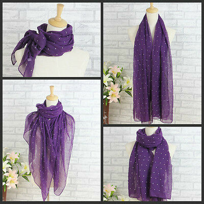 Ladies Scarves Maxi Wrap Shawl Hijab Sarong Big Oversize Studded All Over **