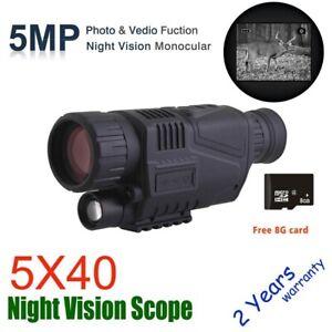 Infrared Day &Night Vision Device Digital Monocular Telescope Night Hunting 200m