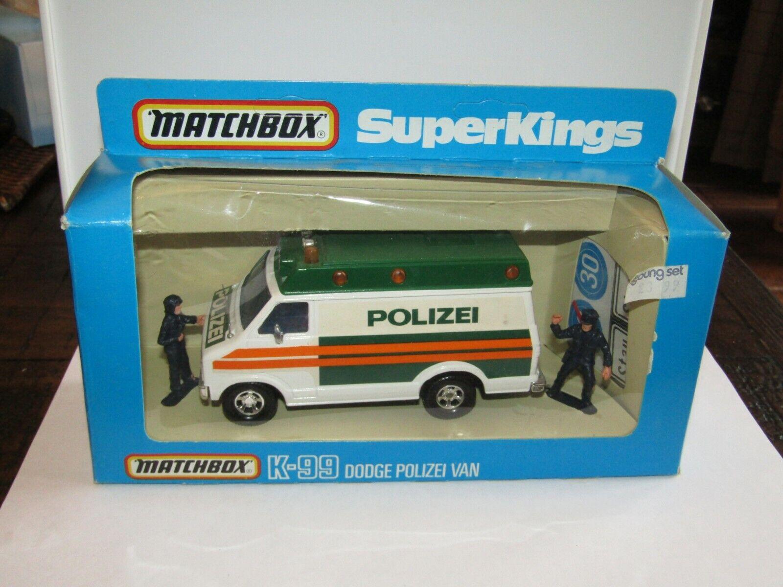 Matchbox Super Kings K-99 Dodge Polizei Van German Issue MIB