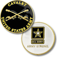 U.s. Army Strong / Cavalry - Sabers Challenge Coin