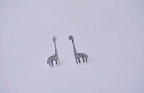 Ohrstecker Ohrring Giraffe Afrika 925 Sterling Silber