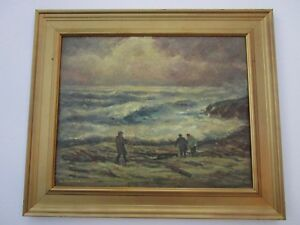 MILDRED-NORDMAN-AMERICAN-SUNSET-PAINTING-COASTAL-CALIFORNIA-ANTIQUE-LANDSCAPE