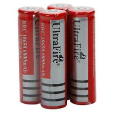 4pcs 3.7V 18650 Li-ion  Rechargeable Battery for LED Torch Flashlight IT