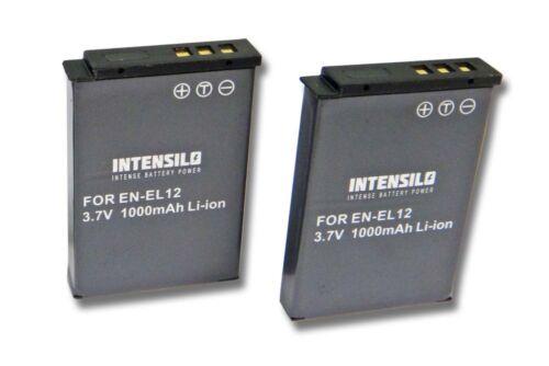 Bateria 2 unidades1000mahintensilo para Nikon Coolpix s9700//p310 en-el12