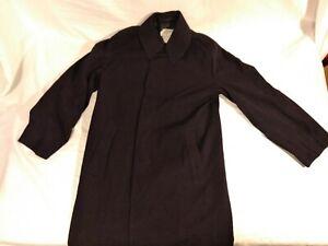 RARE-VINTAGE-NAVY-M-BAKER-CLOTHING-MANS-R-N-TRENCH-STYLE-RAINCOAT-4-BLACK