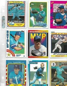 george-brett-80s-90s-set-of-9-cards-nm