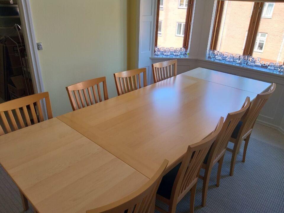 Spisebord m/stole, bøgetræ, b: 100 l: 180