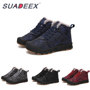 Kids-Ankle-Snow-Boots-Boys-Girls-Winter-Warm-Fur-Lined-Outdoor-Sneakers-Shoes-UK