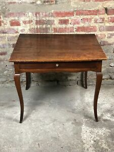 Table-d-039-appoint-carree-en-bois-fruitier-mouluree-XVIII-eme