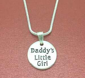 Daddy-039-s-Little-Girl-Necklace-Charm-Pendant-and-chain-daddy-daughter-daddys