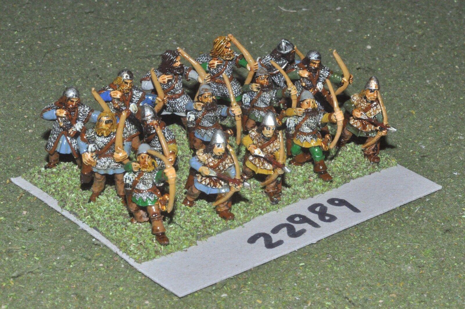 25 mm Foncé Âge Viking-Archers 15 figures-INF (22989)
