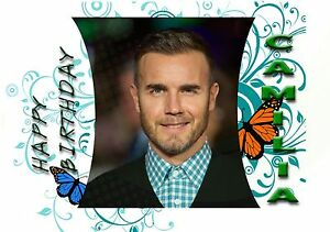 Image Is Loading Gary Barlow Personalised Birthday Greeting Card A5