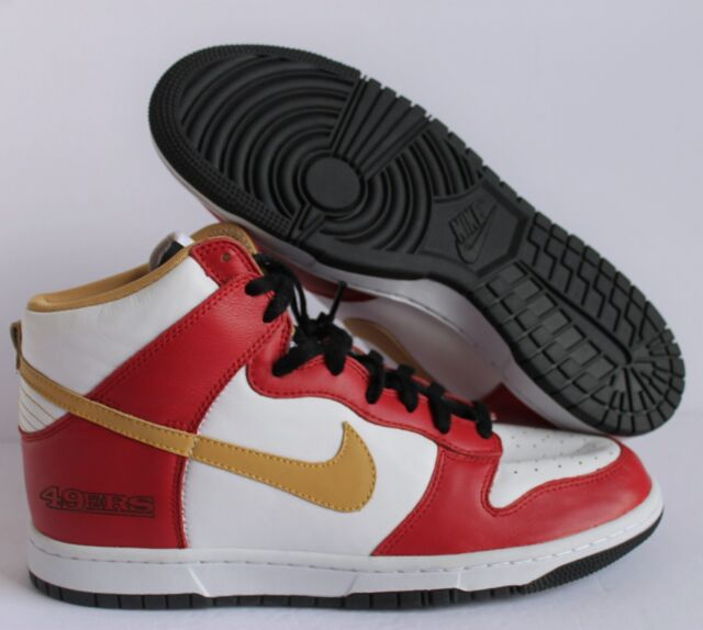 super popular fbdcc 48c08 NIKE DUNK HIGH ID San Francisco 49ers WHITE-RED SZ 10.5  535078-901