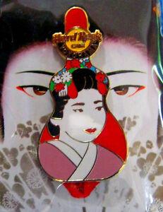 Yokohama-Japones-Geisha-Nina-Guitarra-Estuche-Obra-Series-Hard-Rock-Cafe-Pin-Le