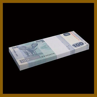 CONGO D.R P-98 UNC 2013 Elephant 100 Francs