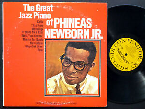 PHINEAS-NEWBORN-JR-The-Great-Jazz-Piano-Of-LP-CONTEMPORARY-M3611-Sam-Jones