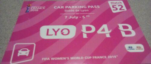 VIP Parking Pass Finale FIFA Frauen WM 2019 USA Niederlande Holland # Spiel 52