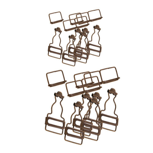 12 Sets Metal Small Dungaree Buckles Fasteners Clip Braces Arts /& Craft