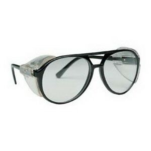 SAS Safety 5125 Classic Safety Glasses with Polybag, Black Frame/Clear Lens by SAS Safety
