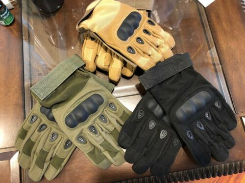 Men/'s TACTICOOL Army Gloves Tactical Hard Knuckle Outdoor Military Humvee HMMWW