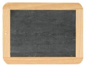 Schiefertafel-Tafel-mittel-mit-Holz-Rahmen-Schule-Schulbedarf-Schreibtafel
