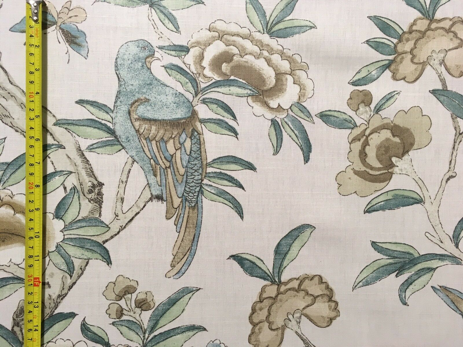 THIBAUT GISELLE GISELLE GISELLE CURTAIN CUSHION BLIND FABRIC LINEN COTTON BIRDS FLORAL 2.6m 3f492c