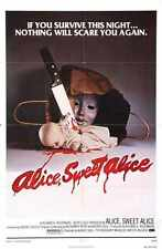 Alice Sweet Alice Poster 01 Metal Sign A4 12x8 Aluminium