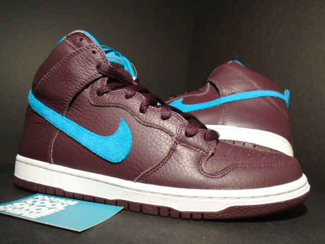 info for f00f5 5cbea 2011 Nike Dunk High Premium SB Burgundy Maroon Red Aquamarine Blue White DS  8.5 for sale online  eBay