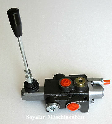 cilindro impuesto válvula 24 V.//1 sektio 80l//mi//para doppelwirk E Hydraulikventil