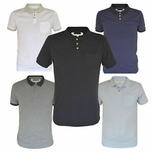 Ex-Mens-H-amp-M-Cotton-Polo-Shirt-Contrast-Collar-Size-S-XXL