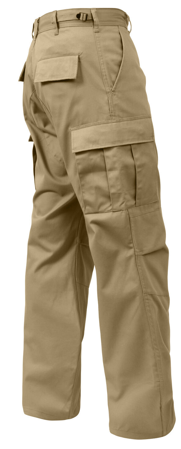 Tactical Work Pants BDU Style Relaxed Fit Cargo Trousers Khaki redhco 2931