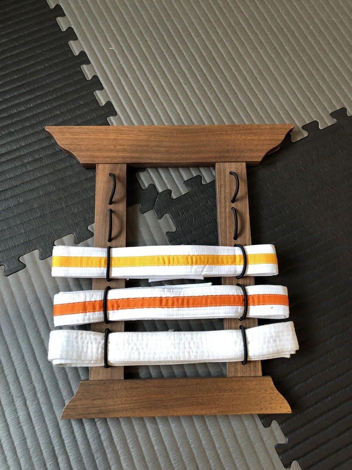 Jiu  Jitsu Belt Holder. BJJ 5 Belt Wall Display.  discount sales