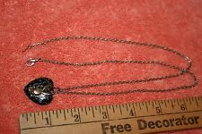 """Unmarked Silver-tone Metal Playboy Pendant & Necklace 25 3/8"""""""