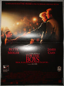 Affiche-FOR-THE-BOYS-Bette-Midler-JAMES-CAAN-Mark-Rydell-40x60cm