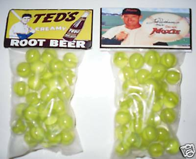 2 BAGS OF TEDS CREAMY MOXIE ROOT BEER PROMO MARBLES