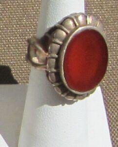 Carnelian-Agate-set-in-Ornate-Filigree-Sterling-Ring
