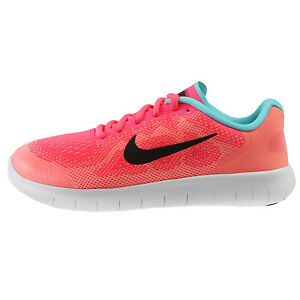 57895e2dfbb1 Nike Free RN 2017 Big Kids 904258-600 Racer Pink Running Shoes Youth ...