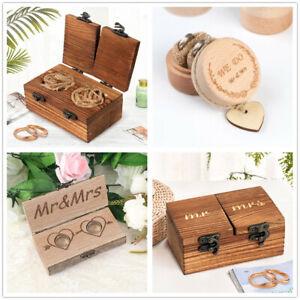 Vintage-Wooden-Wedding-Ring-Bearer-Box-Engagement-Ring-Holder-Jewelry-Ring-Box