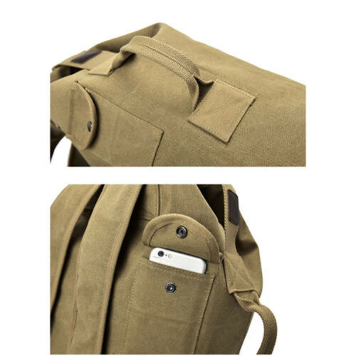 Large Canvas Travel Backpack Outdoor Camping Capacity Rucksack Shoulder Bag New