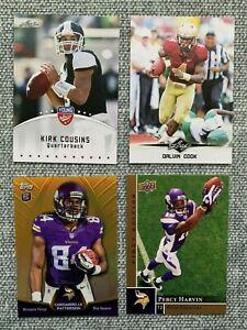 Minnesota Vikings Rookie Card Lot Kirk Cousins Dalvin Cook Justin Jefferson