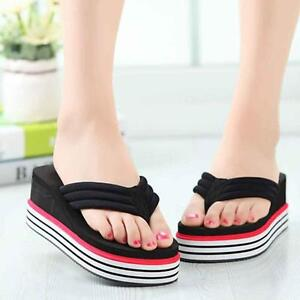 Image Is Loading Women Summer Shoes High Heels Beach Sandals Wedge