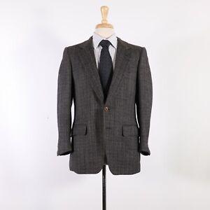 Ermenegildo Zegna 38S Green HB Wool Two Button Sport Coat Blazer Jacket