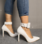 Womens-Pointed-Toe-Ankle-Strap-Party-Evening-Plus-Stiletto-High-Heel-Pump-Shoes thumbnail 2