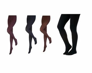 Ladies Thick Opaque Fleece Lined Winter Thermal Leggings Navy Heat Holders
