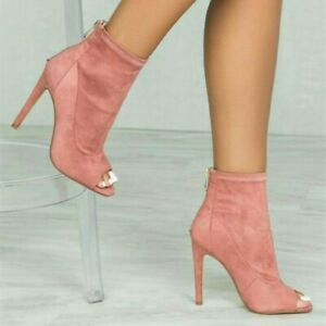 Womens-Fashion-Open-Toe-Nightclub-Shoes-High-Heels-Sandals-Sexy-Ankle-Boots-Pump