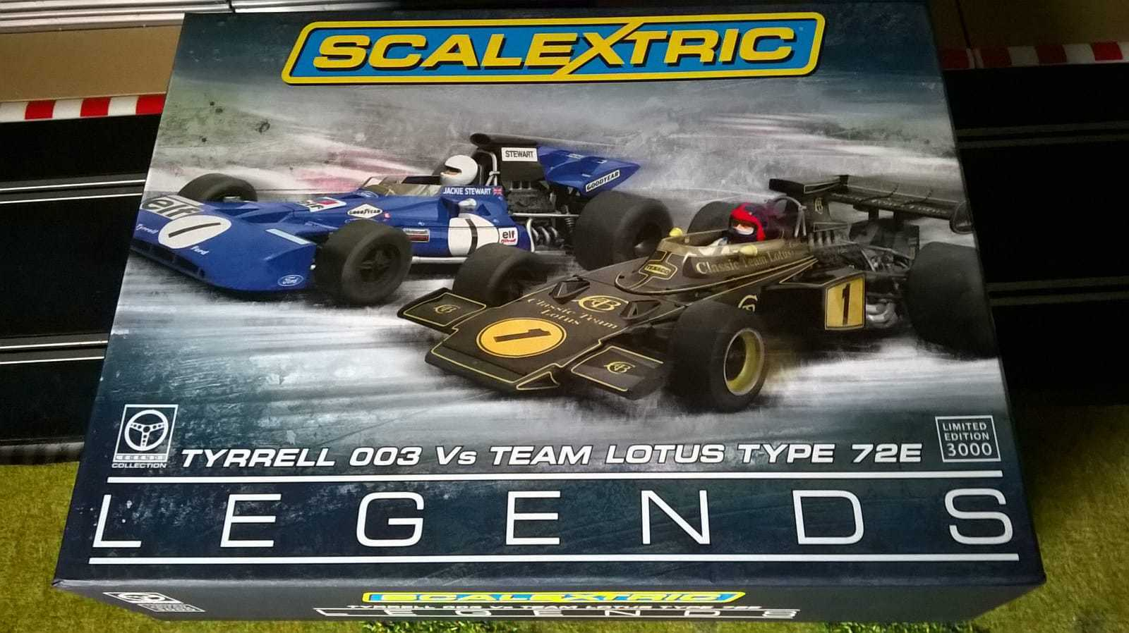 Scalextric C3479A -- Legends Tyrrell 003 vs Lotus 72E ---  Limited Edition 3000