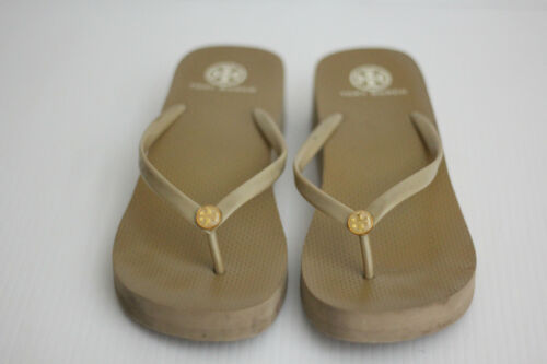 TORY BURCH Logo Platform Wedge Flip Flop Sandals P
