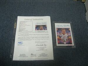 Mickey-Mantle-Autographed-Sports-Impressions-Postcard-JSA-Certified